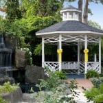 Gazebo Waterfall Outdoor Wedding