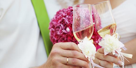 Toast at intimate Myrtle Beach wedding