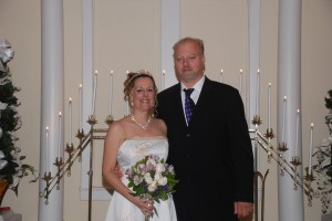 Kathy Ann Hall and Aaron Texter wed in a chapel wedding at Myrtle Beach, SC's Wedding Chapel By The Sea.