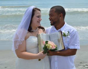 Selina & Daniel Richardson married in Myrtle Beach, SC on the beach at Wedding Chapel by the Sea