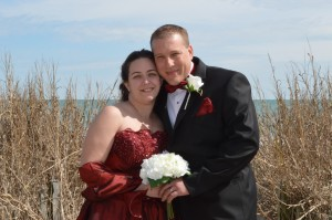 Heather & Chad married on the beach in Myrtle Beach, SC at Wedding Chapel by the Sea
