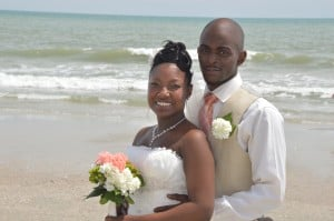 Shonique & Cedric Hayward married in Myrtle Beach, SC at Wedding Chapel by the Sea