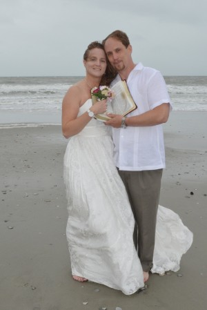 Miranda & Jason Evans were married in Myrtle Beach, SC at Wedding Chapel by the Sea.