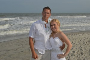 Ashley & Jarrid Kendall were married in Myrtle Beach, SC at Wedding Chapel by the Sea.