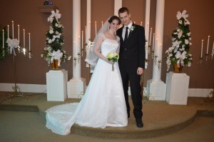 Ashley & Christopher Rog were married in Myrtle Beach, SC at Wedding Chapel by the Sea.