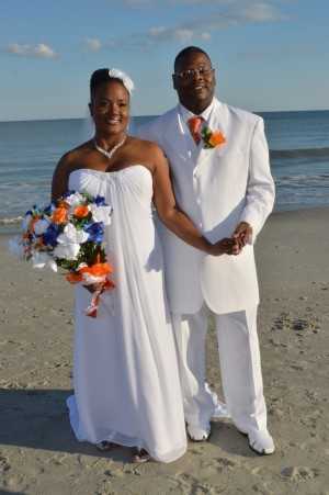 Linda & Stanley Watkins were married in Myrtle Beach, SC at Wedding Chapel by the Sea.