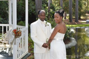 Casey & Leroy Williams, Jr. were married in Myrtle Beach, SC at Wedding Chapel by the Sea.