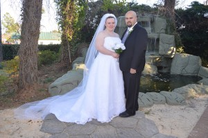 Strickland and Chavis had a garden wedding on February 15, 2014 in Myrtle Beach