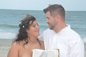 Jessica & Christopher Wall were married at Wedding Chapel by the Sea in Myrtle Beach, SC.