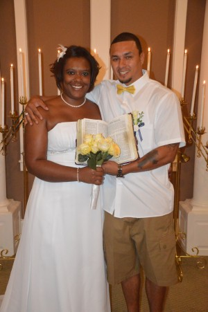 Victoria & Ervin Lawson were married in Myrtle Beach, SC at Wedding Chapel by the Sea.