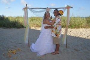 Amanda Owens & Justin Speagle were married at Wedding Chapel by the Sea.