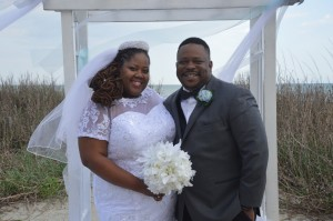 Jennifar & William Foxworth were married at Wedding Chapel by the Sea on the beach.